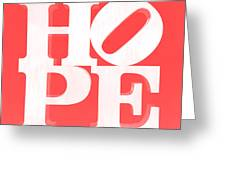 Hope Inverted Red Greeting Card