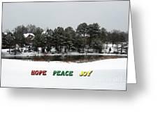 Hope Peace Joy Greeting Card
