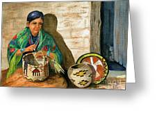 Hopi Basket Weaver Greeting Card