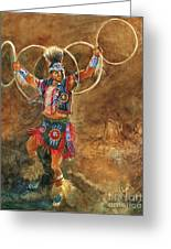Hopi Hoop Dancer Greeting Card