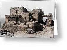 Hopi Hilltop Indian Dwelling 1920 Greeting Card
