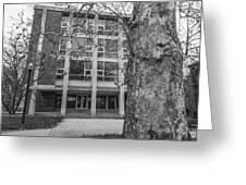 Hopkins Hall Black And White Greeting Card