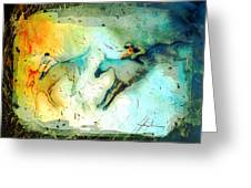 Horse Racing 02 Madness Greeting Card