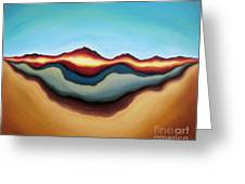 Horizon Of Ages Greeting Card