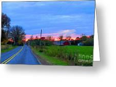 Horizon Sunset Greeting Card