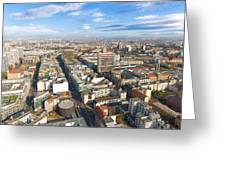 Horizontal Aerial View Of Berlin Greeting Card