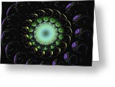 Horn Of Green Greeting Card