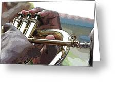 Horn Player 0072 Greeting Card