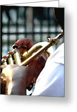 Horn Player Pk 0071 Greeting Card