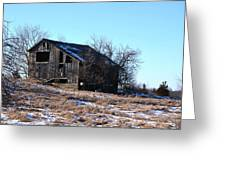 Horning Road Barn Greeting Card by Jennifer  King