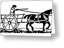 Horse & Cart, 19th Century Greeting Card