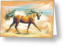 Horse Akalteke Greeting Card