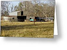 Horse And Barn Greeting Card
