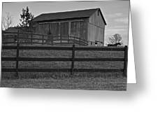 Horse And Barn Greeting Card