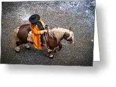Horse And Rider From Above Greeting Card