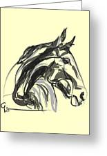 horse - Apple digital Greeting Card