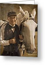 Horse Carriage Driver 1 Greeting Card