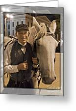 Horse Carriage Driver 3 Greeting Card