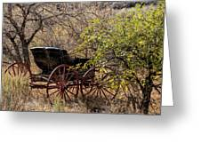 Horse-drawn Buggy Greeting Card by Kathleen Bishop