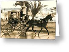 Horse Drawn Carriage Ride Greeting Card