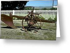 Horse Drawn Plow Greeting Card
