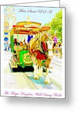 Horse Drawn Trolley Car Main Street Usa Greeting Card