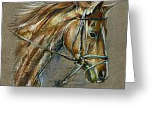 My Horse Face Drawing Greeting Card