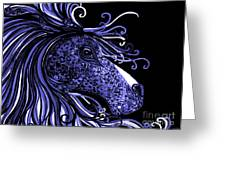 Horse Head Blues Greeting Card