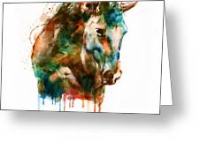 Horse Head Watercolor Greeting Card