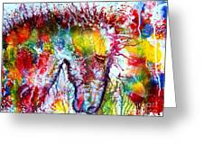 Horse In Abstract Greeting Card