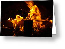 Horse In The Fire Greeting Card