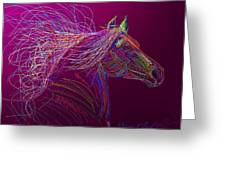 Horse Of Fire Greeting Card