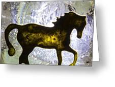 Horse On A Quartz Crystal Greeting Card