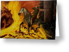 Horse On The Fire Greeting Card