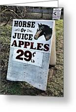 Horse Or Juice Apples Greeting Card