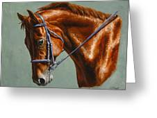 Horse Painting - Focus Greeting Card