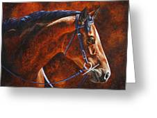 Horse Painting - Ziggy Greeting Card