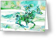 Horse Painting.18 Greeting Card