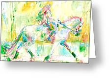 Horse Painting.19 Greeting Card