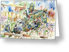 Horse Painting.21 Greeting Card