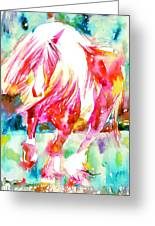 Horse Painting.22 Greeting Card