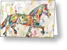 Horse Painting.23 Greeting Card