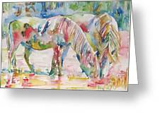 Horse Painting.27 Greeting Card