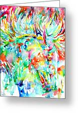 Horse Painting.29 Greeting Card