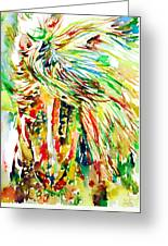 Horse Painting.31 Greeting Card