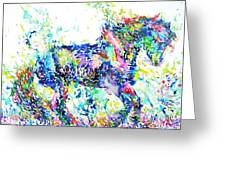 Horse Painting.33 Greeting Card
