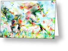 Horse Painting.36 Greeting Card