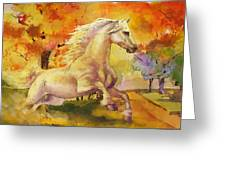 Horse Paintings 003 Greeting Card