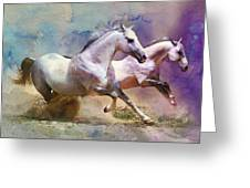 Horse Paintings 004 Greeting Card