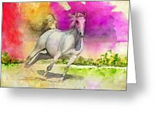 Horse Paintings 007 Greeting Card